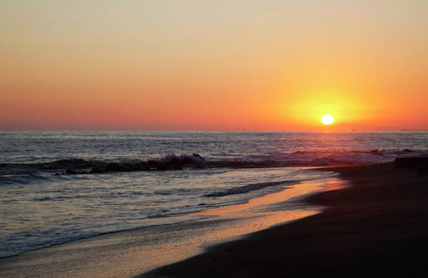Photograph - Setting Sun On A Crystal Cove Beach by Driendl Group