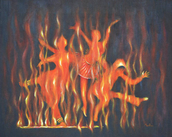 Usha Painting - Setting The Stage On Fire by Usha Shantharam