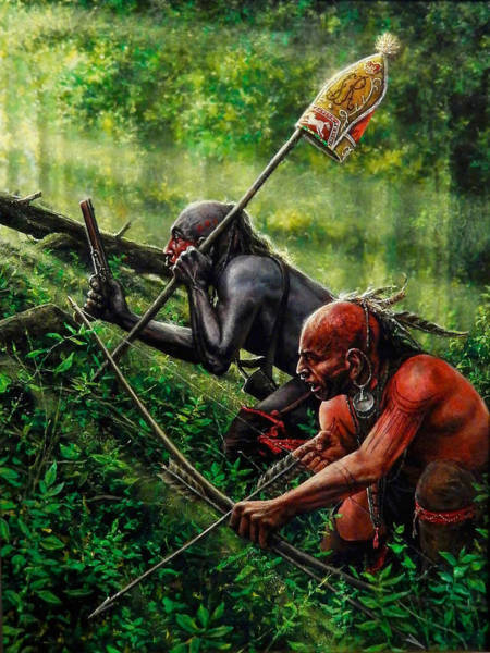 Native Painting - Setting The Trap by Dan Nance
