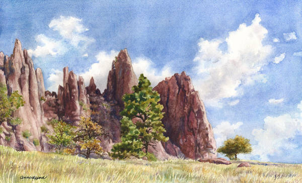 Outcrop Painting - Settler's Park by Anne Gifford