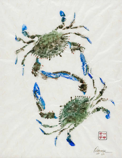 Crab Painting - Settling Differences by Odessa Kelley