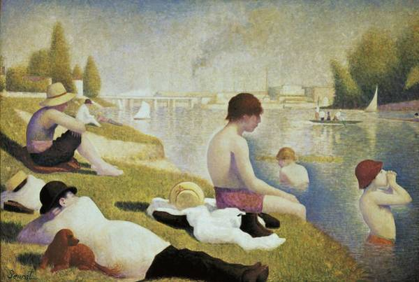 Post-impressionism Photograph - Seurat, Georges 1859-1891. Bathers by Everett