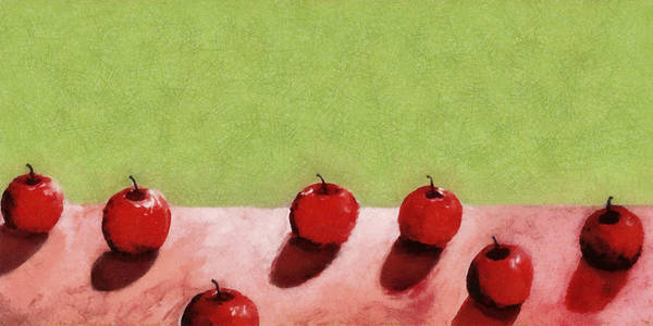 Wall Art - Painting - Seven Apples by Michelle Calkins