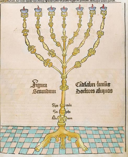 Hebrews Photograph - Seven-branched Candelabrum Or Menorah by Prisma Archivo