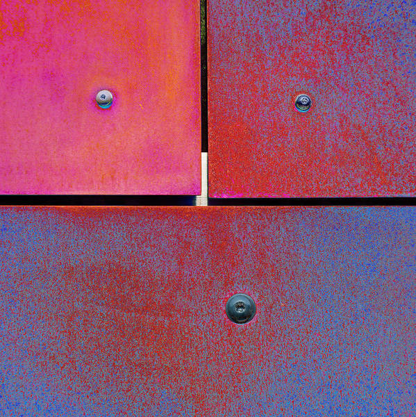 Photograph - Seven Eight Nine - Colorful Rust - Magenta Blue by Menega Sabidussi