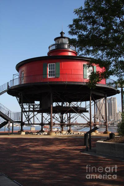 Screw Pile Wall Art - Photograph - Seven Foot Knoll Lighthouse - Baltimore Harbor by Christiane Schulze Art And Photography