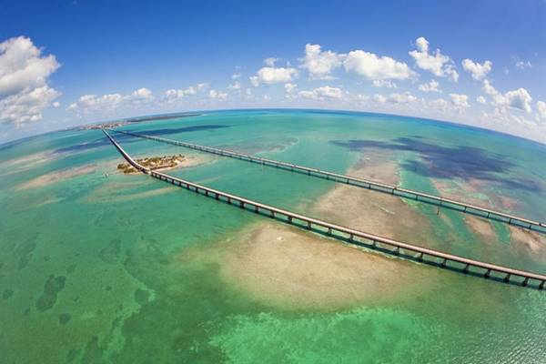 Seven Mile Bridge Art Print