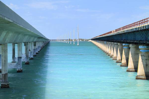 Photograph - Seven Mile Bridge-3 by Rudy Umans