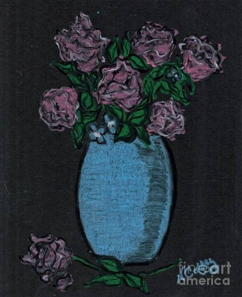 Drawing - Seven Roses by Neil Stuart Coffey