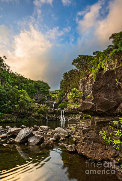 Natural Pool Photograph - Seven Sacred Paradise by Jamie Pham