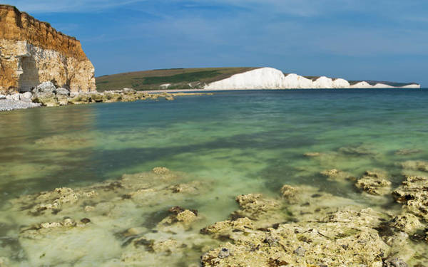 Photograph - Seven Sisters From Hope Gap by Pete Hemington