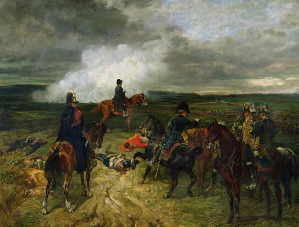 Napoleon Wall Art - Painting - Seventeenth June Eighteen Fifteen At Seven Oclock by John Lewis Brown