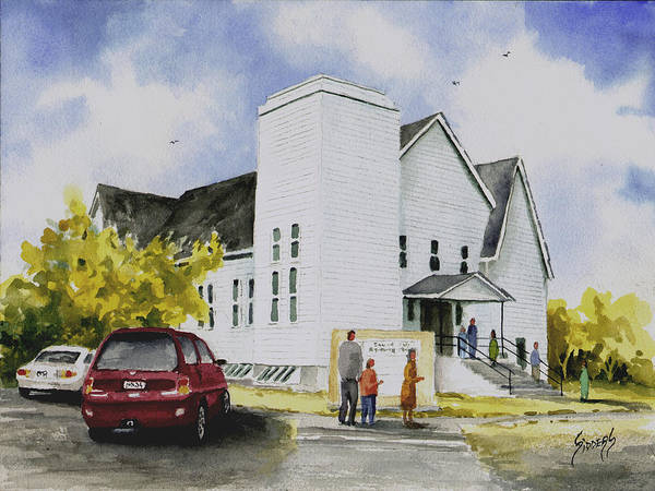 Painting - Seventh Day Adventist Church by Sam Sidders