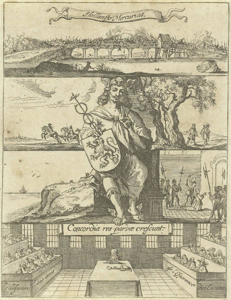 Unity Drawing - Several Events In Europe Unknown Year Enthroned Mercury by Dirck De Bray