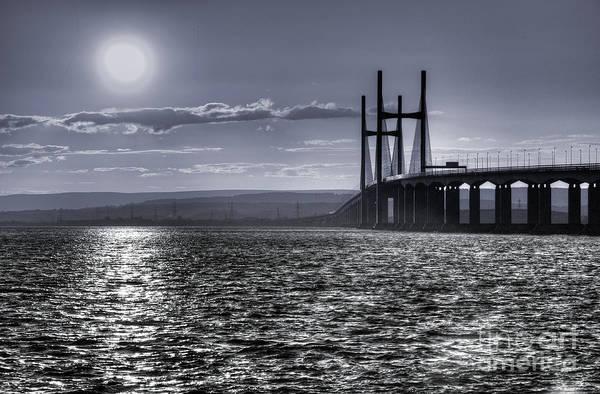 Bristol Channel Photograph - Severn Blues  by Rob Hawkins