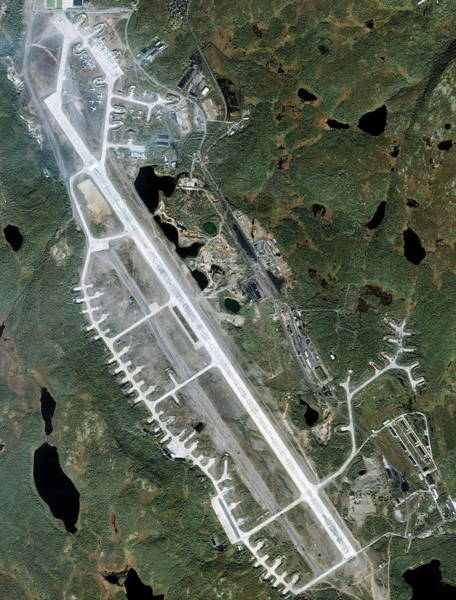 Runway Photograph - Severomorsk Naval Base Airfield by Geoeye/science Photo Library