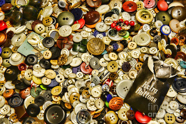 Wall Art - Photograph - Sewing  Extra Buttons by Paul Ward