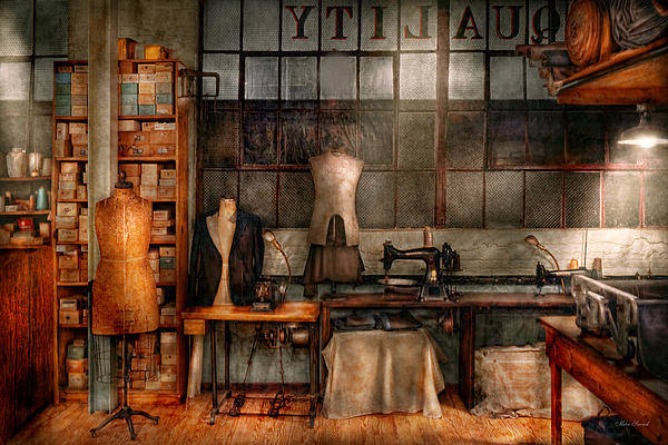 Photograph - Sewing - Industrial - Quality Linens  by Mike Savad