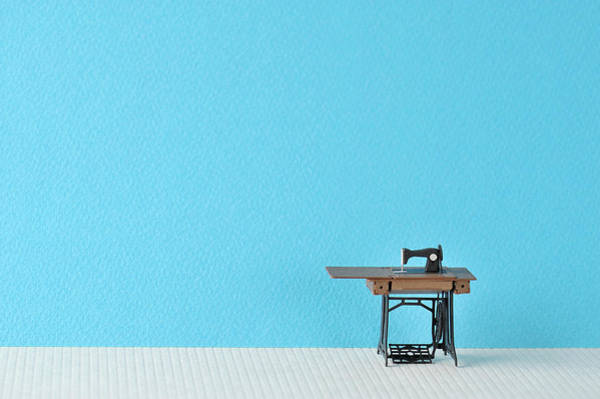Manufacturing Wall Art - Photograph - Sewing Machine Table Model Made Of Paper by Yagi Studio