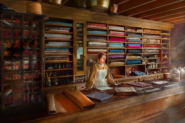 Photograph - Sewing - Minding The Mending Store by Mike Savad