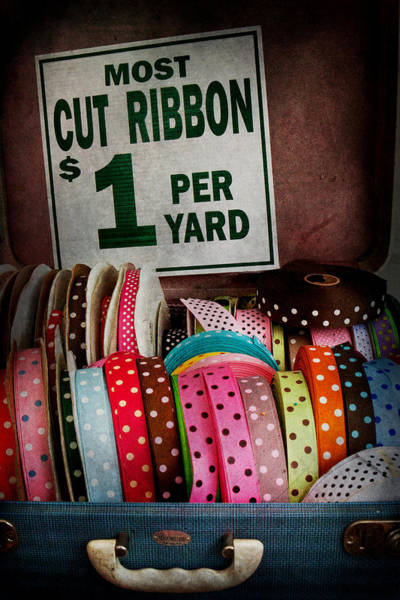 Photograph - Sewing - Ribbon By The Yard by Mike Savad