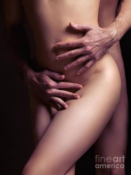 Erotism Photograph - Sexy Nude Couple Embracing by Oleksiy Maksymenko