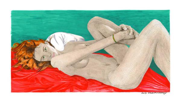 Latina Painting - Red Italian Sheets by Jack Pumphrey