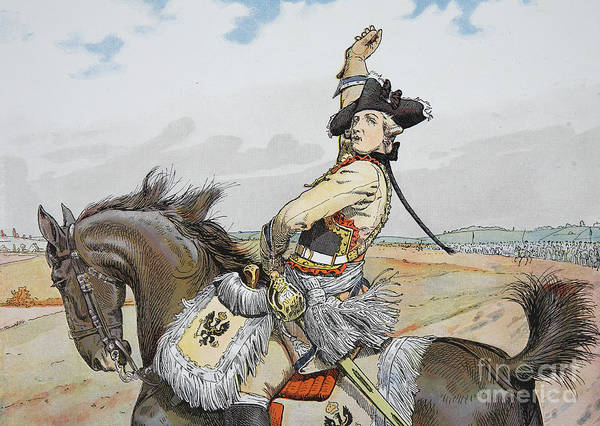 Steed Painting - Seydlitz At Rossbach by Richard Knoetel