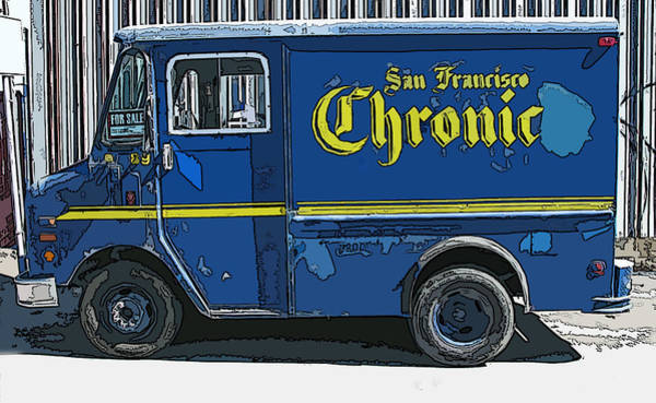 Photograph - Sf Chronic Truck For Sale by Samuel Sheats