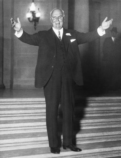Republican Party Photograph - Sf Mayor James Rolph, Jr. by Underwood Archives