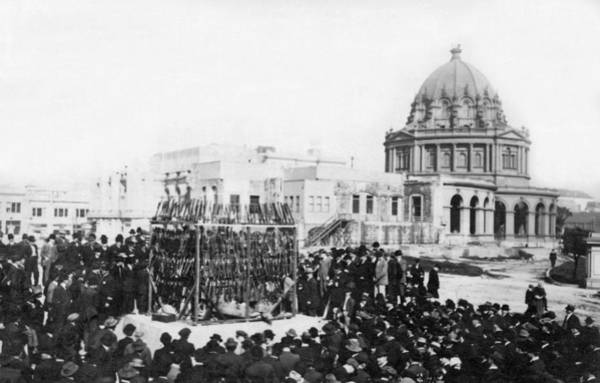 Republican Photograph - Sf Opium Burning by Underwood Archives