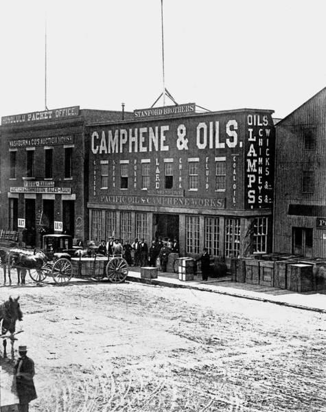Wall Art - Photograph - Sf Pacific Oil And Camphene Work by Underwood Archives