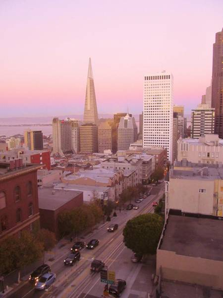Photograph - Sf Sunrise by Michelle Dallocchio