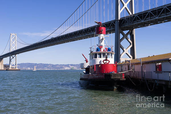 Photograph - Sffd Guardian Fireboat Number 2 At The Bay Bridge On The Embarcadero Dsc01841 by Wingsdomain Art and Photography