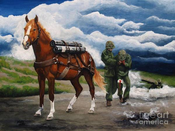 Wall Art - Painting - Sgt. Reckless by Pat DeLong
