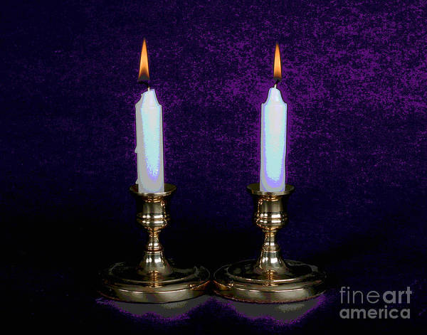 Photograph - Shabbat Candles by Larry Oskin