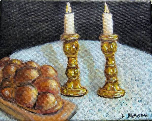 Painting - Shabbat Shalom by Laurie Morgan