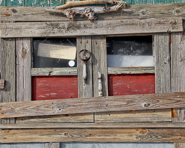 Photograph - Shack Window by Bob Slitzan