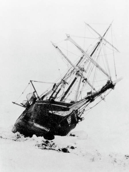 Wall Art - Photograph - Shackleton's Ship Trapped In Antarctic Ice by Science Photo Library