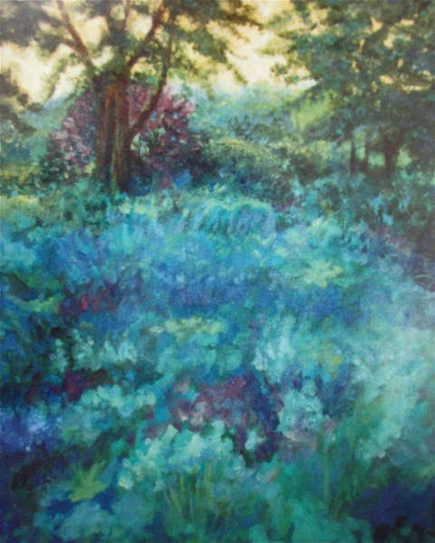 Painting - Shade Garden by Sherri Anderson