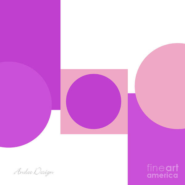 Digital Art - Shades And Shapes Of Radiant Orchid Square by Andee Design