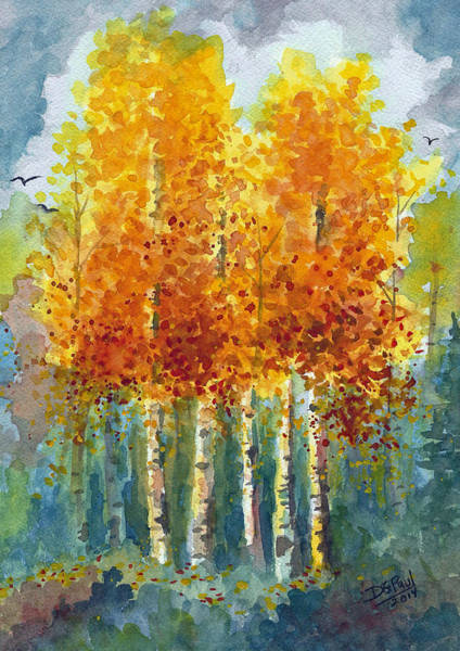 Wall Art - Painting - Shades Of Autumn by David G Paul