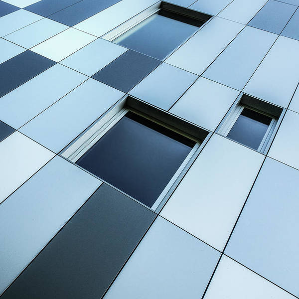 Grid Photograph - Shades Of Blue by Luc Vangindertael (lagrange)