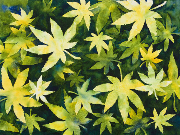 Painting - Shades Of Green by Mary Giacomini