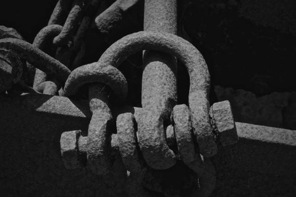 Chain Link Photograph - Shades Of Grey by Odd Jeppesen
