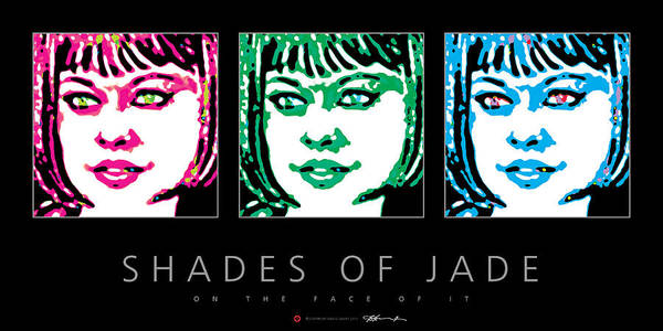 Digital Art - Shades Of Jade Poster by David Davies
