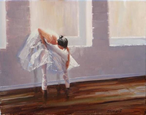 Ballet Painting - Shades Of Lavender by Laura Lee Zanghetti