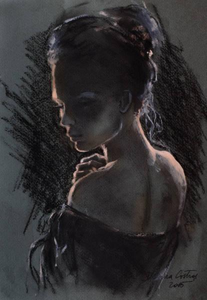 Wall Art - Painting - Shades Of Light by Dorina  Costras