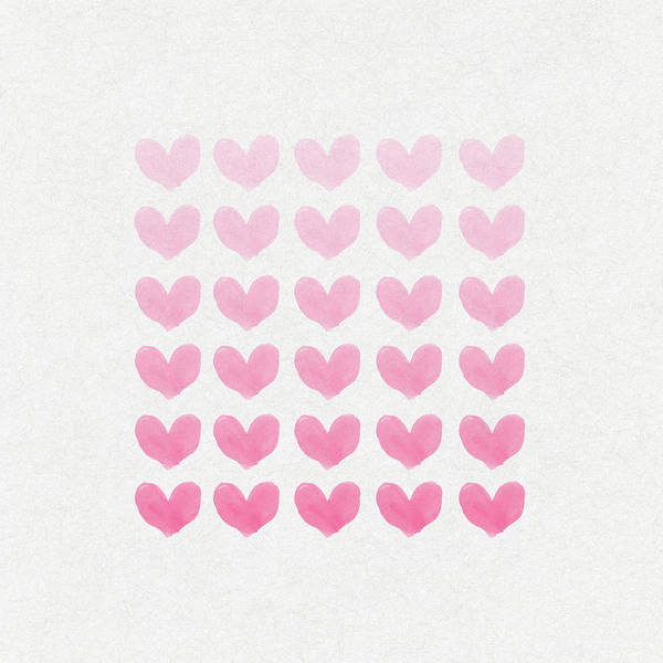 Valentines Digital Art - Shades Of Pink by Aged Pixel