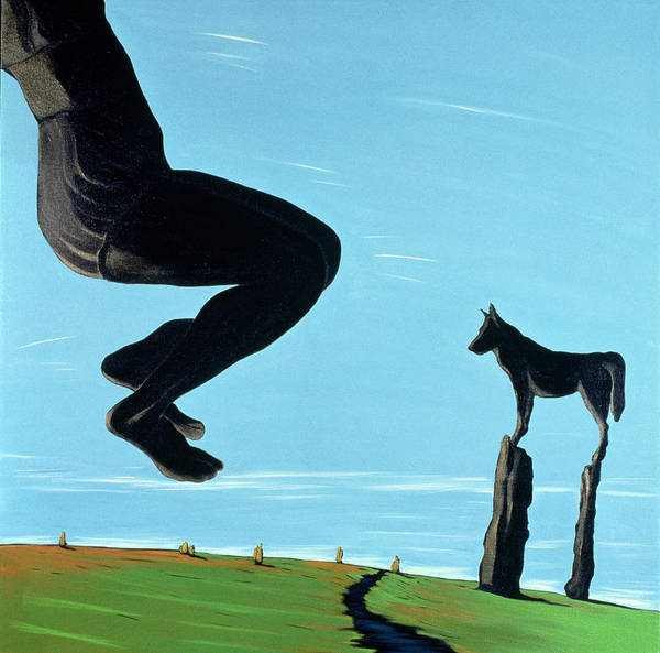 Jumping Painting - Shadow At Rest, 2000 by Marjorie Weiss